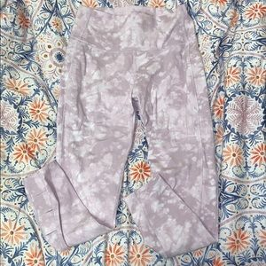 lilac and white tie dye old navy workout leggings